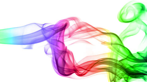 Abstract Background with Colored Real Smoke Footage