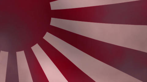 Rising sun flag Animation