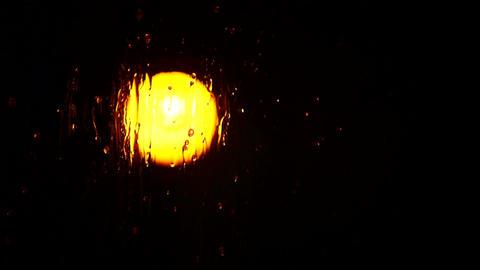 Water Drops on a Windowpane Footage