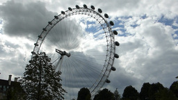 London Eye rotating at a slow speed, London, UK (L Footage