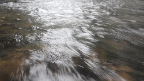 Water Quickly Runs. Prompt Watercourse stock footage