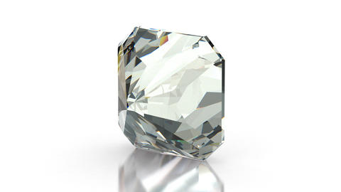 Radiant Cut Diamond stock footage