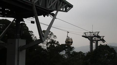 maokong gondola reaching the top Animation