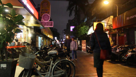 Hip Taipei Lane stock footage