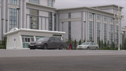 Bus Station In Ashgabat Turkmenistan stock footage