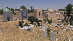 Shah i Zinda complex in Samarkand Uzbekistan Footage