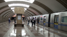 Subway In Almaty Kazakhstan stock footage