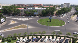 Roundabout in Tashkent Uzbekistan Footage
