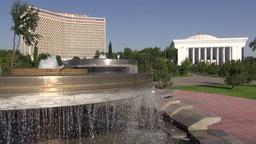 Hotel Uzbekistan And Square Tashkent stock footage