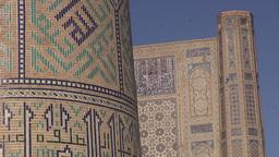 Beautiful mosque in Samarkand Uzbekistan Footage