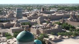 Skyline of Silk Road city in Uzbekistan Footage