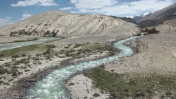 Beautiful Landscape Pamir Ranges stock footage