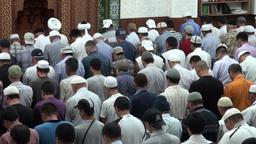 Mosque in Bishkek during Friday prayer Footage