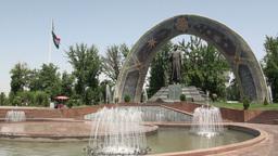 Park In Dushanbe Tajikistan stock footage