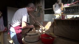 Ceramics Pottery Workshop In Uzbekistan stock footage