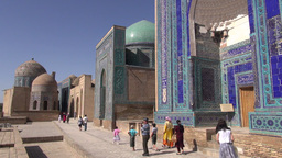 Beautiful Mausoleum In Samarkand Uzbekistan stock footage