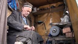 Shoemaker in Tajikistan Footage