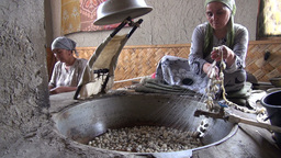 Traditional Silk Production In Central Asia stock footage