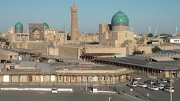 Skyline Bukhara Uzbekistan Central Asia Silk Road Footage