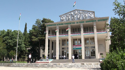 University Dushanbe Tajikistan stock footage