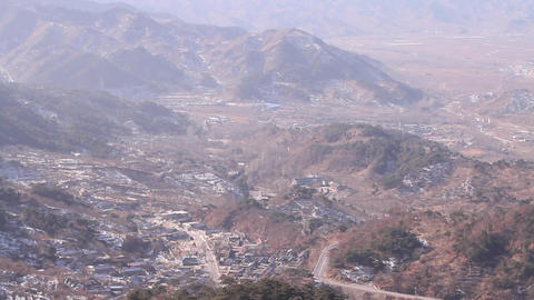 a view of the valley from the top of Mutianu secti Footage