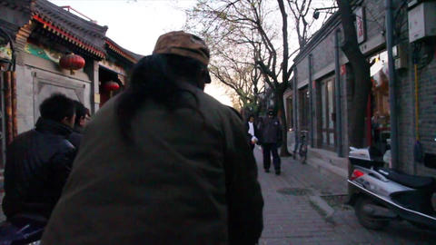 A First Person View On A Bicylce Ride In The Beiji stock footage