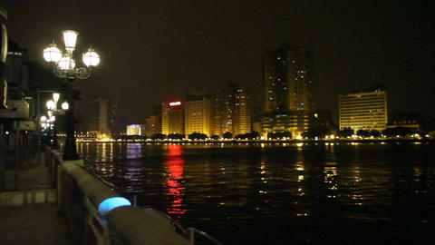 The pearl river in guangzhou evening 2 Footage