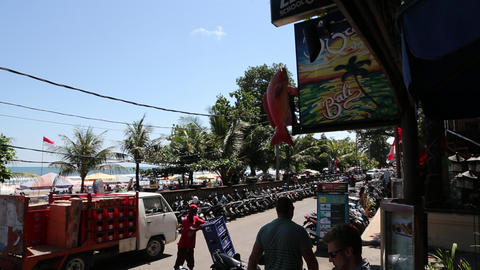 a look at the beach waterfront in bali, legian Footage