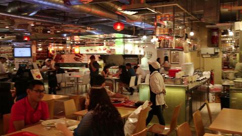 Kuala lumpur food court scene Footage