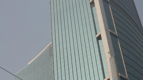 plaza 66 building in Jing'an Shanghai (xmas) Footage