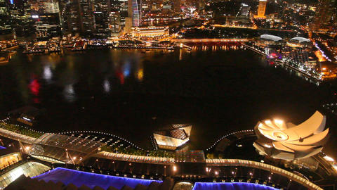 Aerial view of Marina Bay 3 Footage