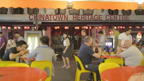 Scene At Chinatown, Singapore stock footage