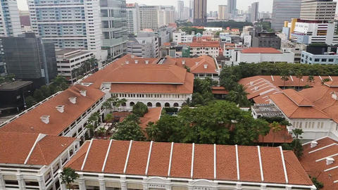 A Birds Eye View Of The Raffles Hotel stock footage