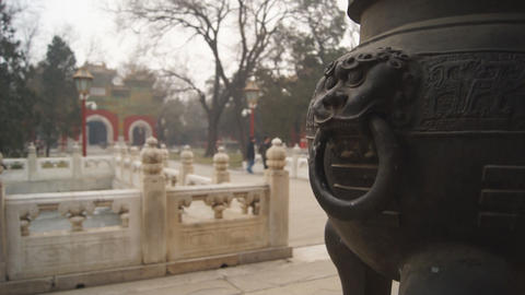 China Beijing Guozijian 05 stock footage