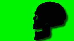2D Animated Skull Talking stock footage