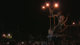 Ogoh-Ogoh Parade Preceding Nyepi In Sanur, 22nd Ma stock footage