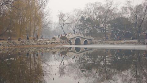 China Beijing Park Yuanmingyuan 01 Footage