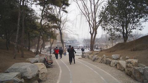 China Beijing Park Yuanmingyuan 03 Footage