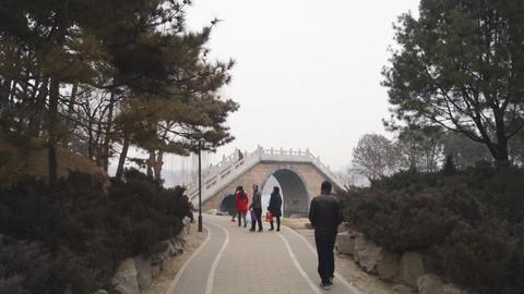 China Beijing Park Yuanmingyuan 07 Footage
