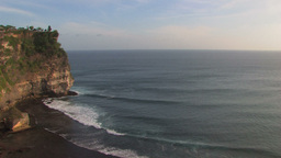 View from the cliff around Uluwatu, Bali Footage