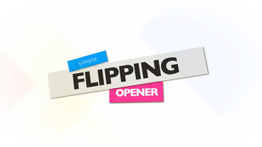 Flipping Opener Apple Motion-Vorlage