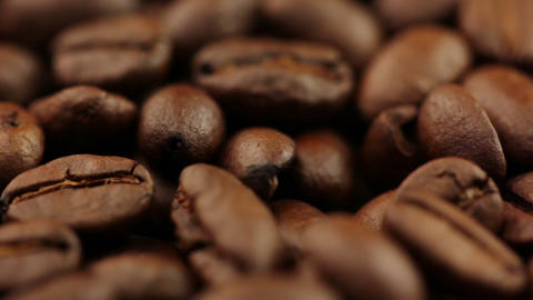 Background With Coffee Beans stock footage