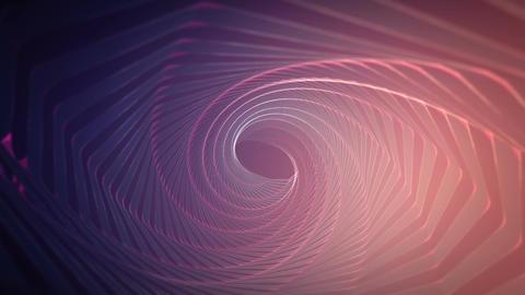 Hypnotic purple wireframe tunnel slowly rotating Videos animados