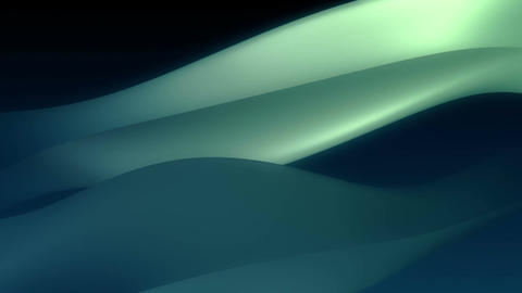 Silky smooth green and blue liquid ripples Animation