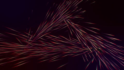 Stream of lasers spray in triangular formation, Stock Animation
