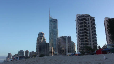 Sunny Day At The Beach, Gold Coast, Australia stock footage
