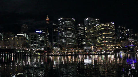 Circular Quay with a reflections in the bay waters Archivo