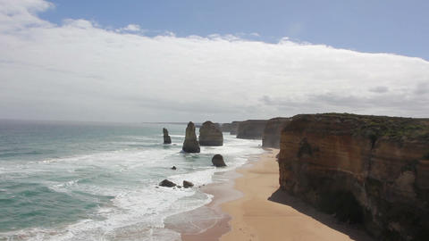 Twelve Apostles on Great Ocean Road, Australia Footage