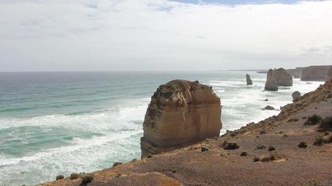 Twelve Apostles on Great Ocean Road, Australia Footage