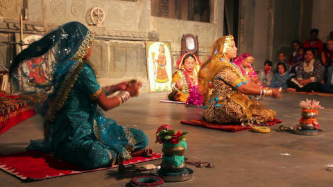 Dances of Rajasthan - performance in Udaipur India Footage